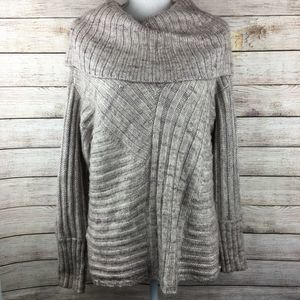 Hinge Marbled Cowl Neck Oversize Comfy Sweater